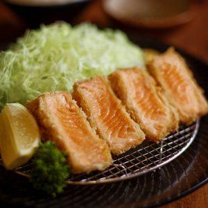 Yabu Salmon Katsu Set with Koshihikari rice