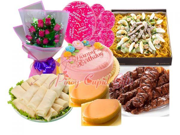 Roses, Goldilocks Malabon, Fresh Jr lumpia, pork bbq