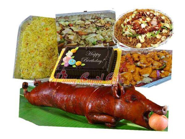 Lechon plus Chinese Cuisine party platters