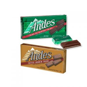 Andes Toffee Thins & Creme De Menthe Thins 132g x2