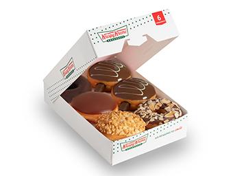 BOX OF 6 PREMIUM ASSORTED DONUTS
