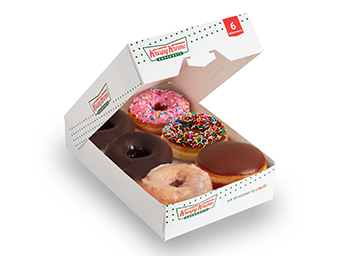 BOX OF 6 REGULAR PRE-ASSORTED DONUTS