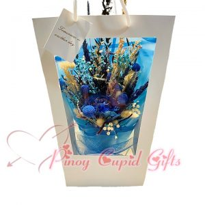 Everlasting Dried Blue Flowers in a bag