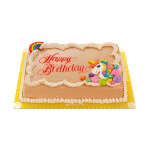 Goldilocks Unicorn Cake-Mocha 8x12