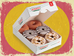 BOX OF 6 HOLIDAY CINNAMON GLAZE DONUTS