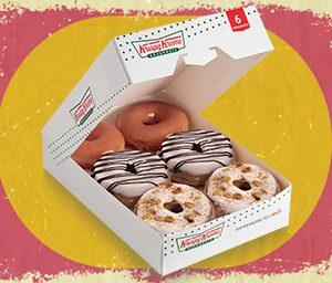 6 NEW Pre-Assorted Krispy Kreme Holiday Cinnamon Glaze Donuts