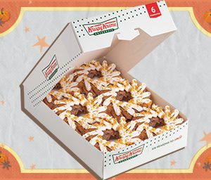 6 of Krispy Kreme's New Pre-Assorted Pumpkin Spice Doughnuts