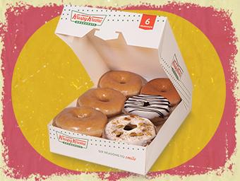 BOX OF 6 HOLIDAY MIXED CINNAMON GLAZE DONUTS