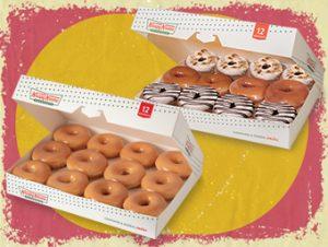 12 Original Glaze Donuts & 12 NEW Holiday Cinnamon Glaze Donuts
