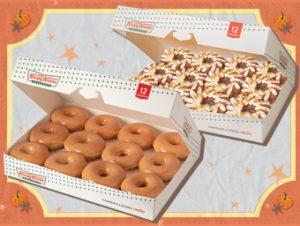 12 Original Glaze Donuts Plus 12 NEW Pumpkin Spice Donuts