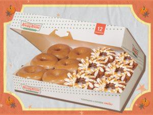 Krispy Kreme 6 Original Glazed Donuts & 6 NEW Pumpkin Spice Donuts