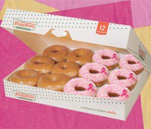 6 Original Glaze Doughnuts & 6 NEW Think Pink Donuts