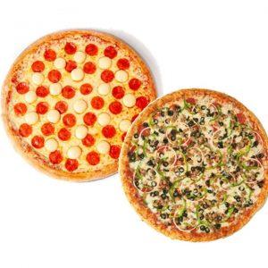 SnR Cream Cheese Pepperoni + Combo Pizza