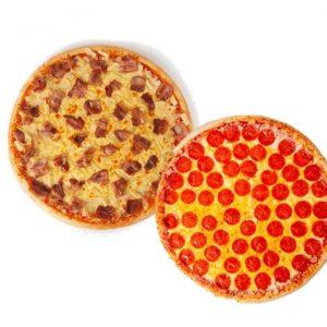 SnR Tropical Hawaiian Gourmet PIzza plus Classic Pepperoni